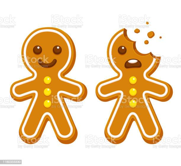 Gingerbread Man Cookie Stock Illustration - Download Image Now