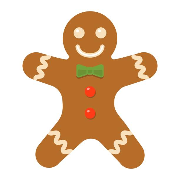 Gingerbread man flat icon, New year and Christmas, xmas sweet sign vector graphics, a colorful solid pattern on a white background, eps 10. Gingerbread man flat icon, New year and Christmas, xmas sweet sign vector graphics, a colorful solid pattern on a white background, eps 10. gingerbread man stock illustrations
