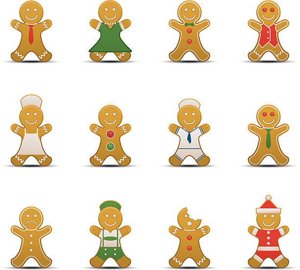 Gingerbread Man Icons http://www.cumulocreative.com/istock/File Types.jpg gum drop stock illustrations