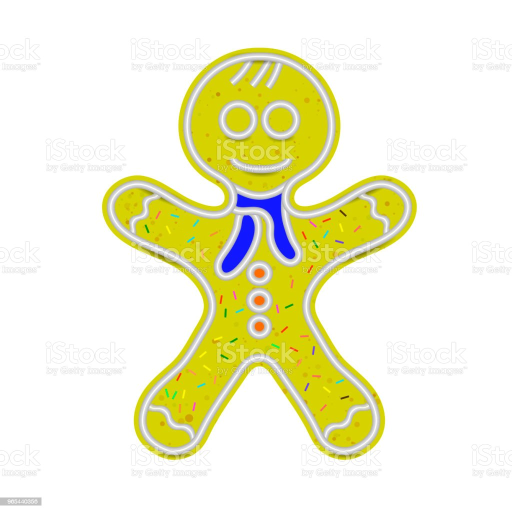Gingerbread Man Isolated. Sweet Classic Christmas Cookie royalty-free gingerbread man isolated sweet classic christmas cookie stock vector art & more images of baked