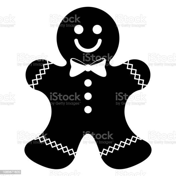 Gingerbread Man Silhouette Stock Illustration - Download Image Now