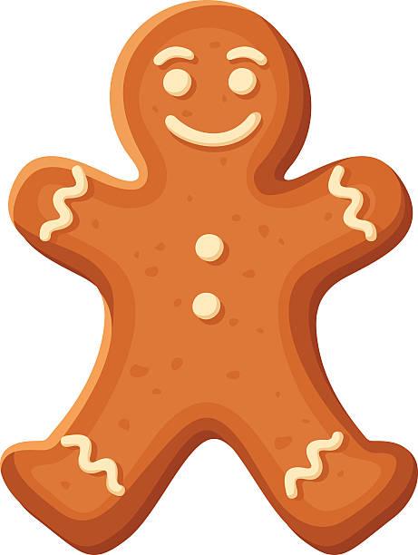 ilustraciones, imágenes clip art, dibujos animados e iconos de stock de hombre de jengibre.  vector navidad con pedacitos de chocolate. - gingerbread man