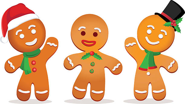ilustrações de stock, clip art, desenhos animados e ícones de boneco de gengibre - cooker happy