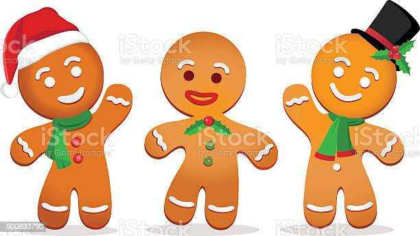 Gingerbread Man Stock Illustration - Download Image Now