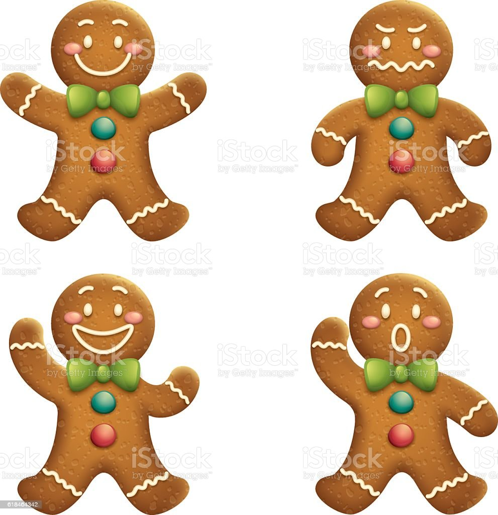 Gingerbread Man vector art illustration