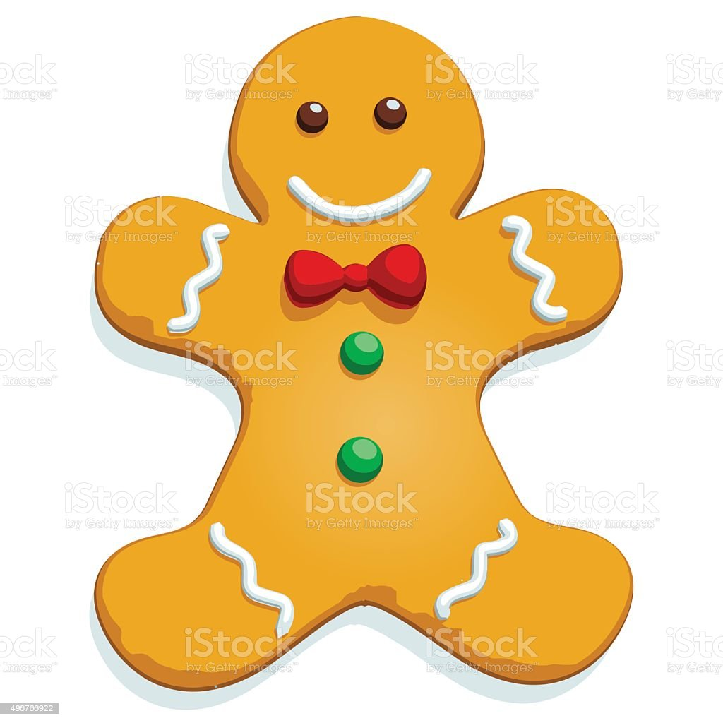 Gingerbread Man - Vector Image vector art illustration