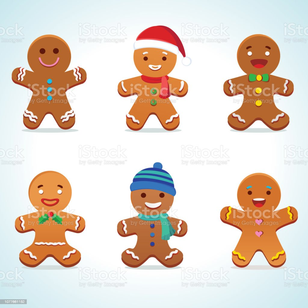 Gingerbread man vector Vector illustration of gingerbread man Baked Pastry Item stock vector