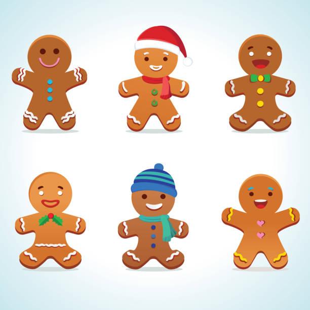 ilustraciones, imágenes clip art, dibujos animados e iconos de stock de vector hombre de pan de jengibre - gingerbread man
