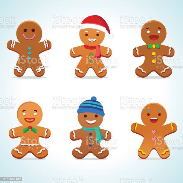 Gingerbread Man Vector Stock Illustration - Download Image Now