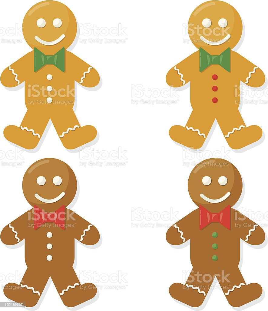 Gingerbread Men royalty-free stock vector art