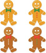 Gingerbread men.Zip contains high resolution jpeg,Ai8,eps8 and pdf.