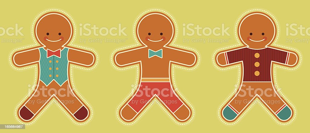 Gingerbread Men royalty-free gingerbread men stock vector art & more images of bow tie
