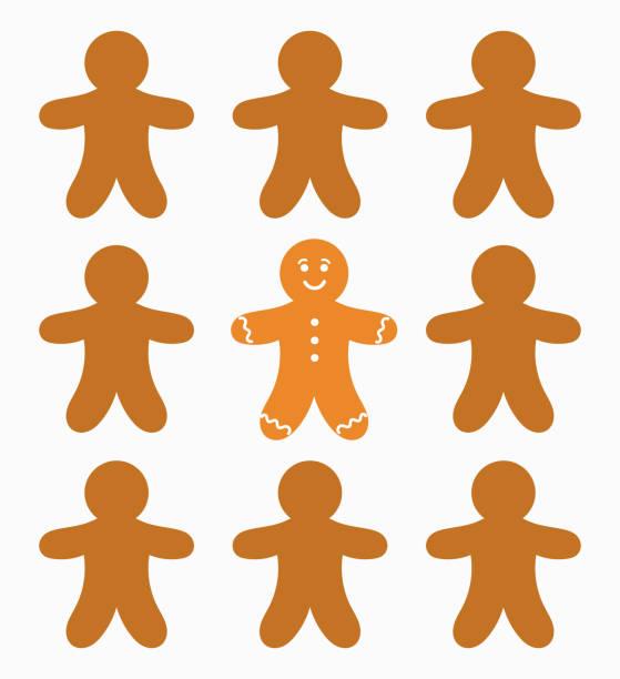 ilustraciones, imágenes clip art, dibujos animados e iconos de stock de gente de pan de jengibre y el - gingerbread man