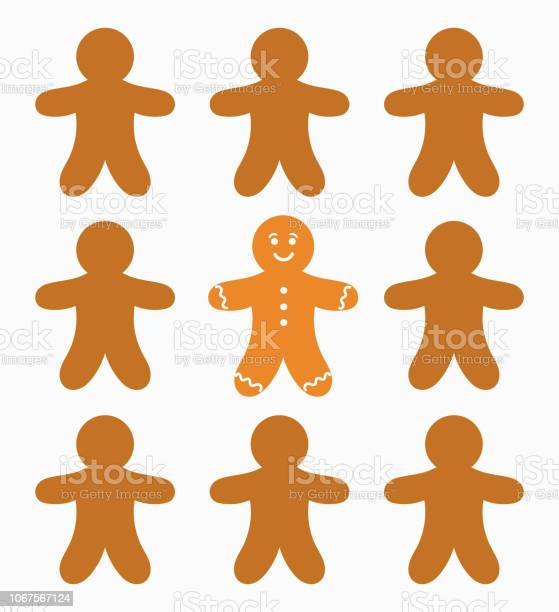 Gingerbread People And The One Stock Illustration - Download Image Now