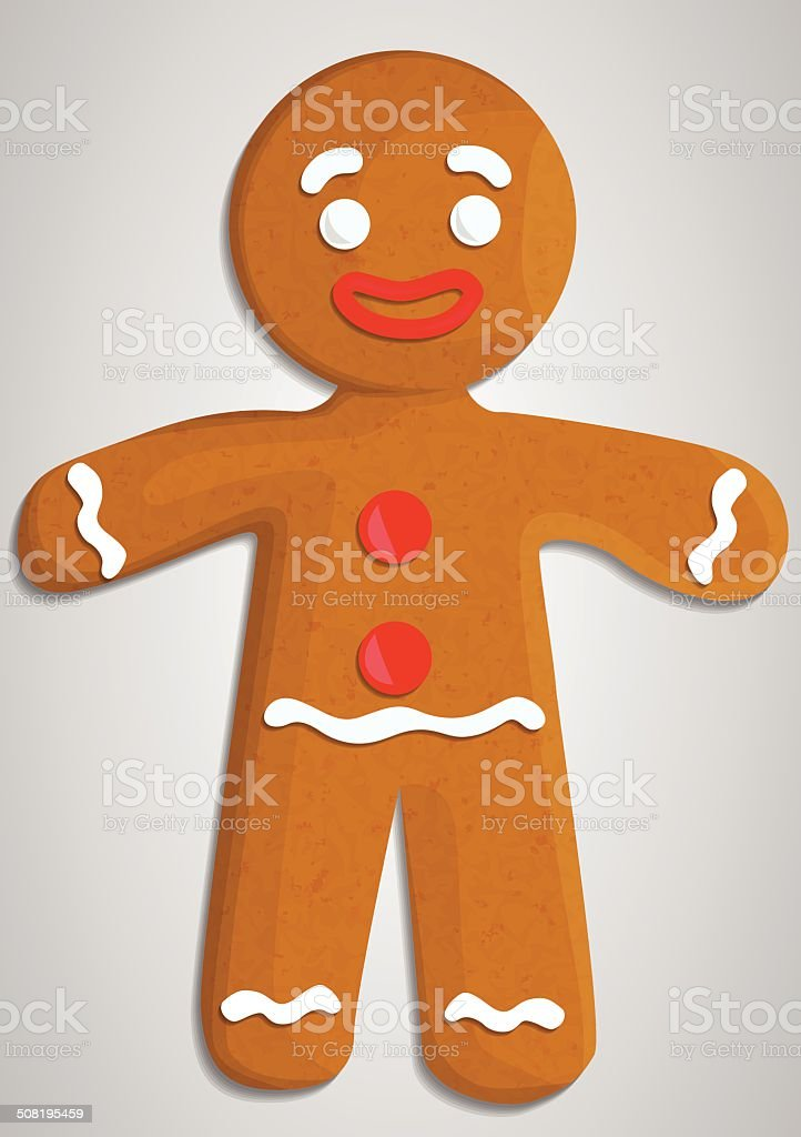 Gingerbread vector art illustration