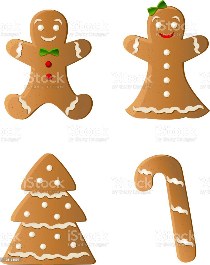 Gingerbreads vector art illustration