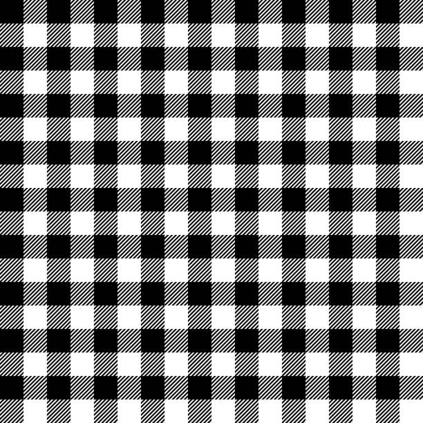 Gingham seamless plaid pattern. vector art illustration
