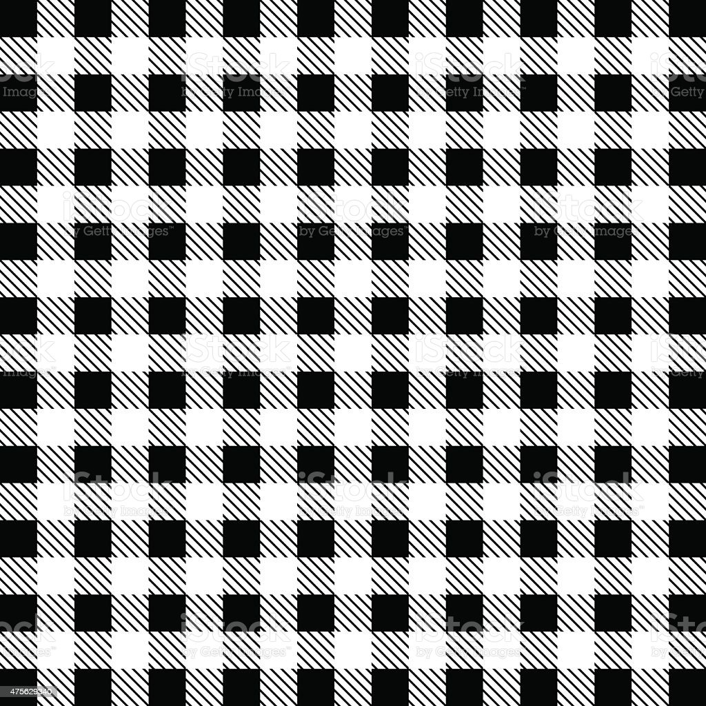 Gingham Tablecloth Pattern Background Black And White Royalty Free Stock  Vector Art