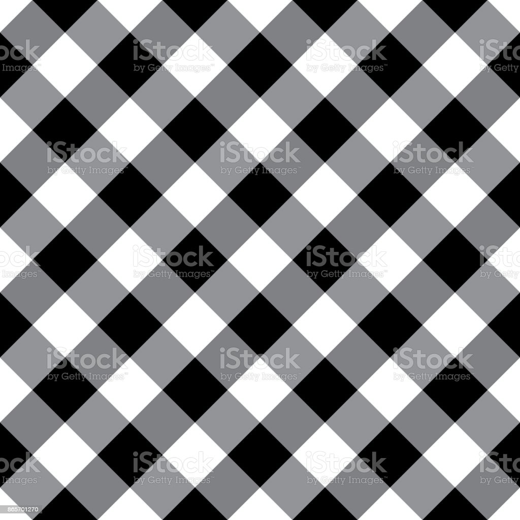 Gingham Tablecloth Seamless Argyle Pattern In Black And White Royalty Free Gingham  Tablecloth Seamless Argyle