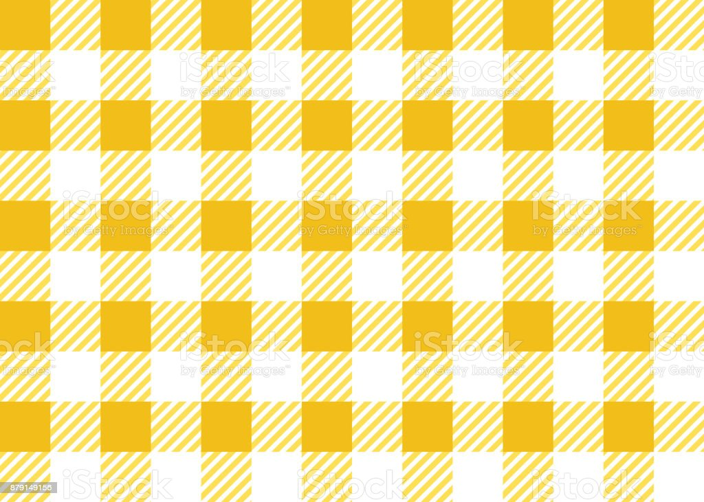 Superieur Gingham Tablecloth Seamless Pattern In Yellow And White Royalty Free  Gingham Tablecloth Seamless Pattern In