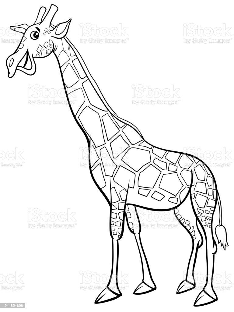 Ilustración de Dibujos Animados De Carácter Animal Jirafa Para ...