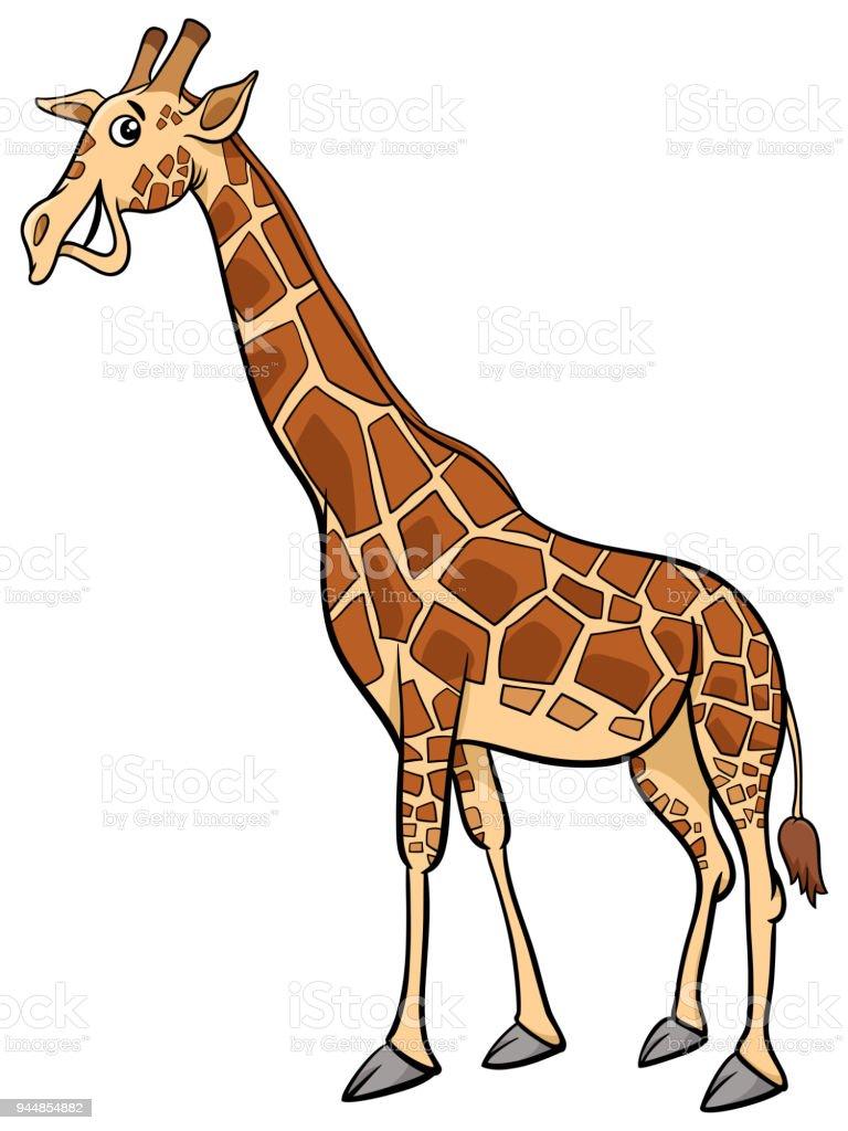Zürafa Hayvan Karakter Karikatür çizimi Stok Vektör Sanatı Afrika