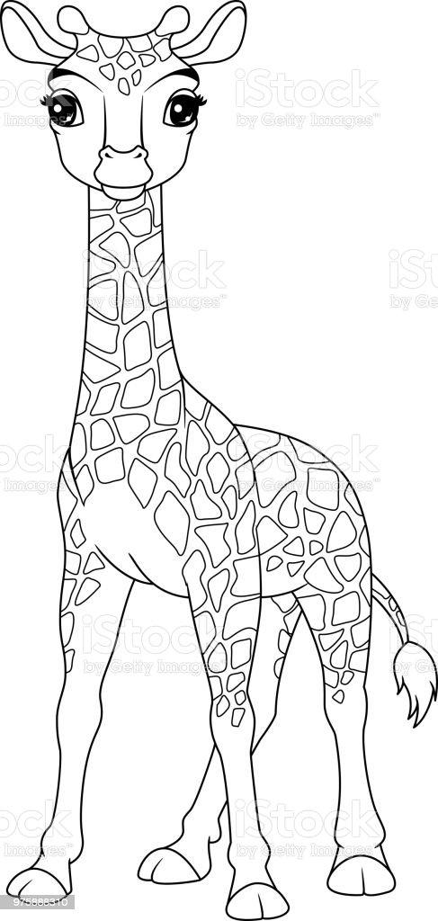malvorlagen tiere giraffe  zeichnen und färben