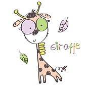 giraffe cartoon animal