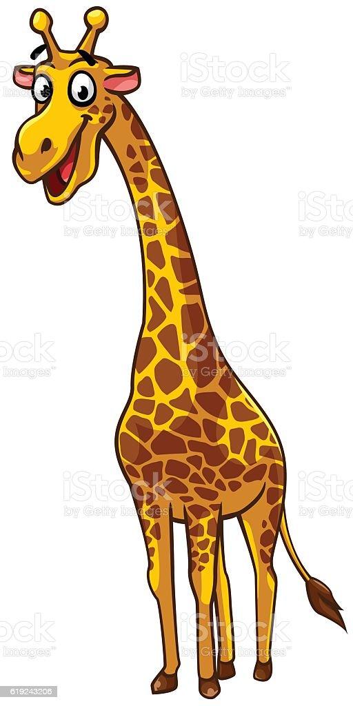 Giraffe cartoon style