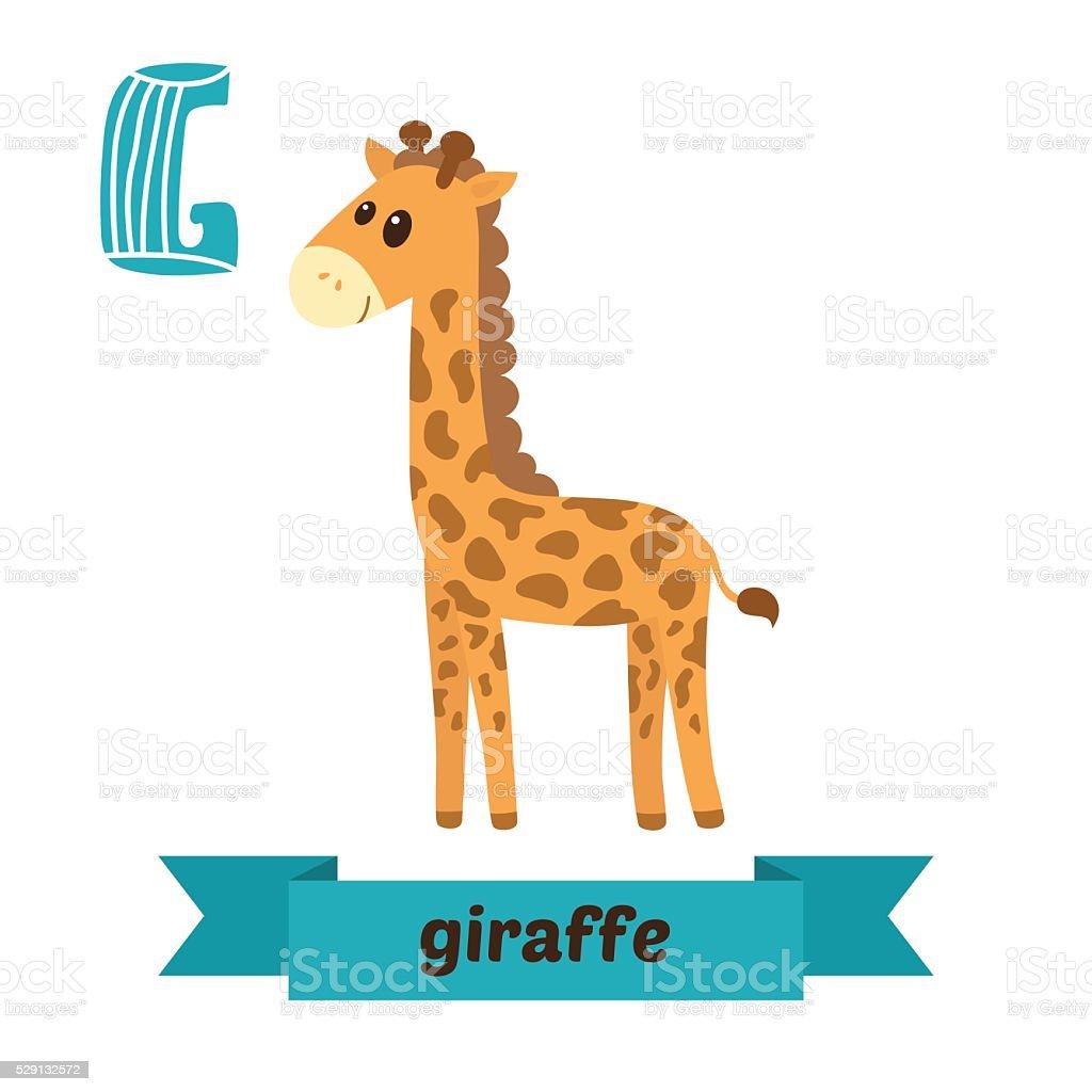 キリンますg レターかわいい動物のベクトルアルファベットのお子様 の