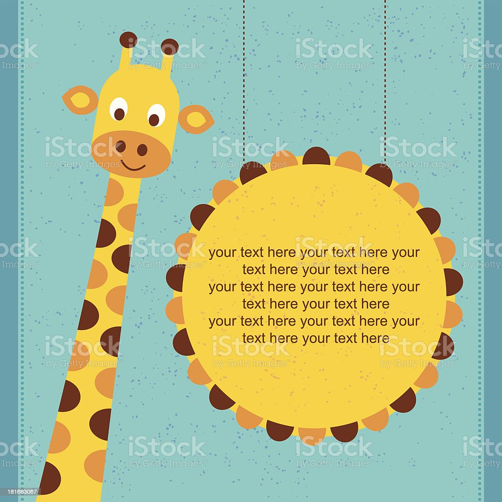 Giraffe - Illustration royalty-free stock vector art