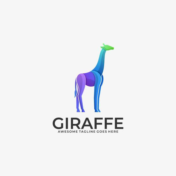 Giraffe Illustration Vector Template Giraffe Illustration Vector Template. Suitable for Creative Industry, Multimedia, entertainment, Educations, Shop, and any related business. lion feline stock illustrations