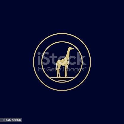 Giraffe Illustration Vector Template