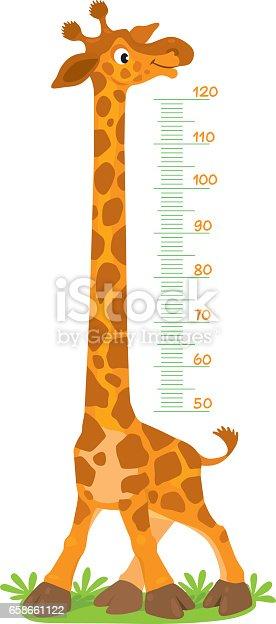 Giraffe Meter Wall Or Height Chart Stock Vector Art Amp More