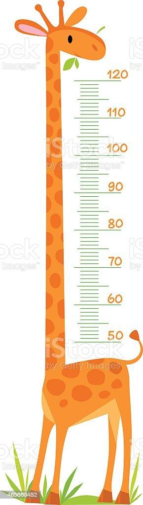 Giraffe meter wall vector art illustration