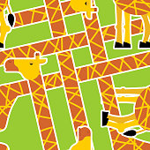 Giraffe pattern. Animal background. Texture for childrens cloth. Vector illustration