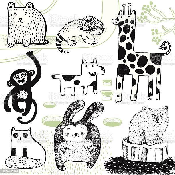 Giraffe rabbit polar bear monkey dog bear and chameleon vector id165735941?b=1&k=6&m=165735941&s=612x612&h= ffkuh7ej3uev5mlcwyswppjk7bwke8hlqqotdyczsi=