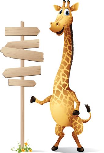 Giraffe - road sign