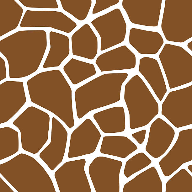 Giraffe Skin Seamless Pattern A seamless pattern of giraffe's pattern. This vector is very good for design that need animal element. animal markings stock illustrations