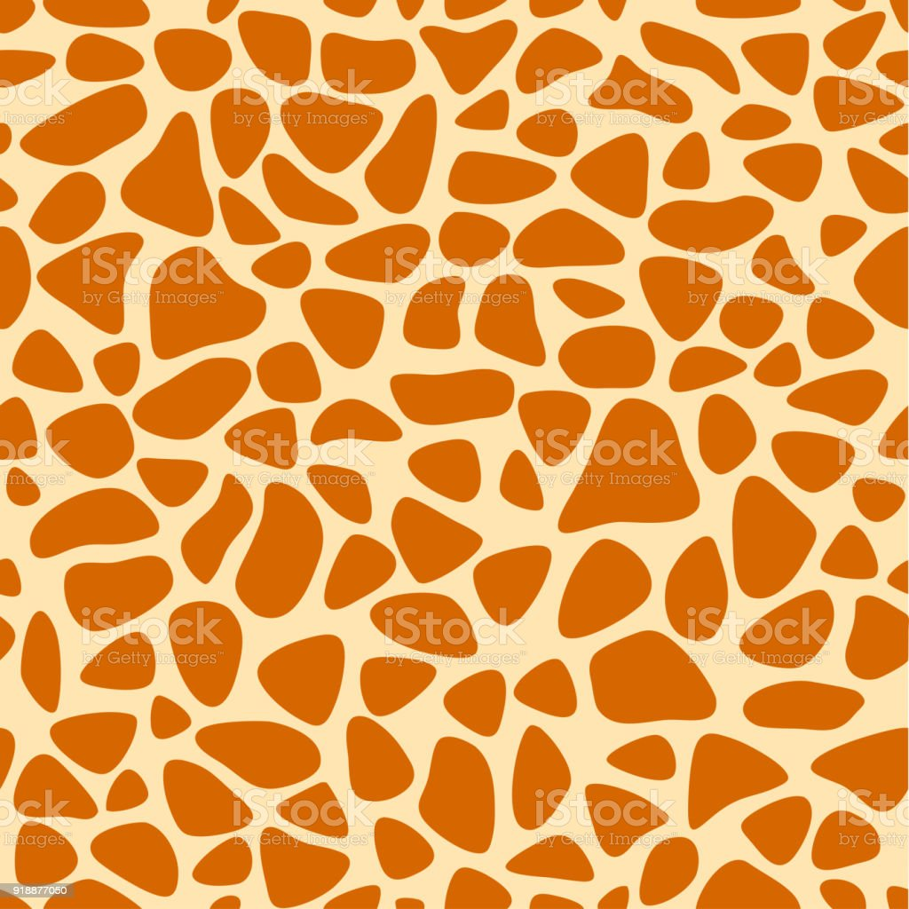 Giraffe texture pattern seamless repeating orange and yellow, safari, zoo, jungle background. Vector vector art illustration