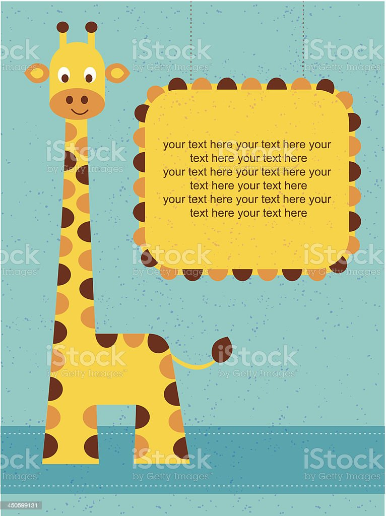 Giraffe royalty-free stock vector art