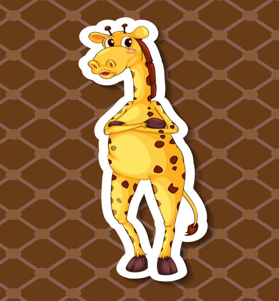 giraffe - giraffenkostüm stock-grafiken, -clipart, -cartoons und -symbole