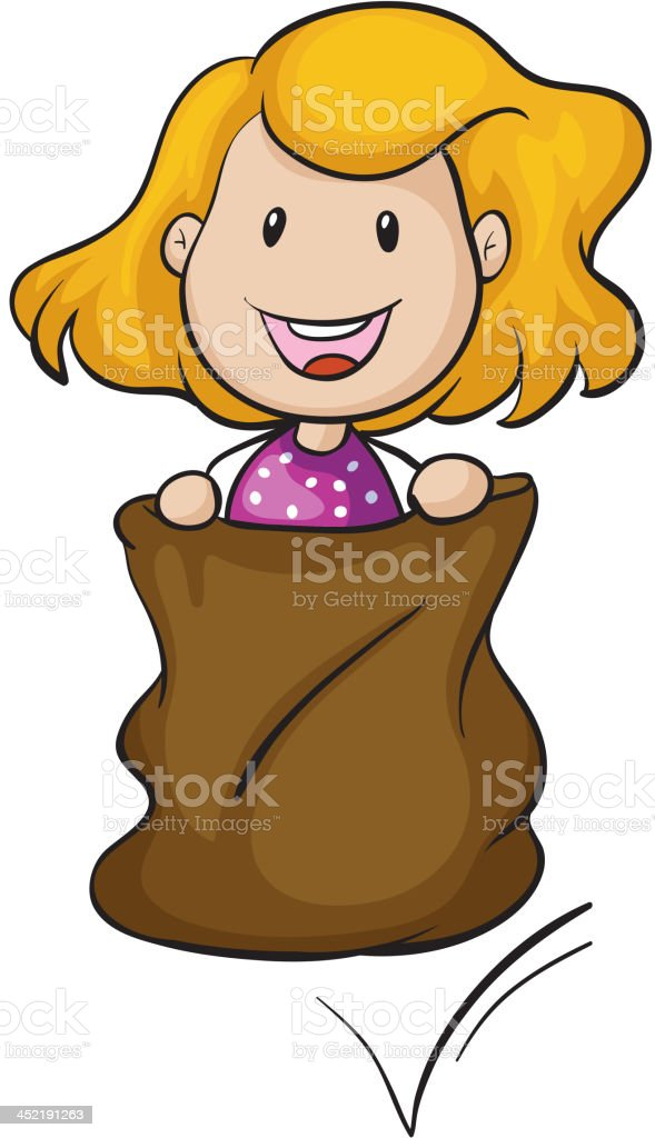 Girl and a burlap royalty-free girl and a burlap stock vector art & more images of adult