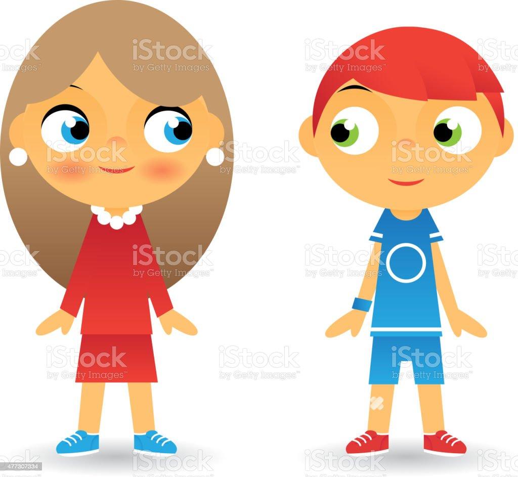 Fille et gar on personnage de dessin anim enfants ic nes - Personnage manga fille ...