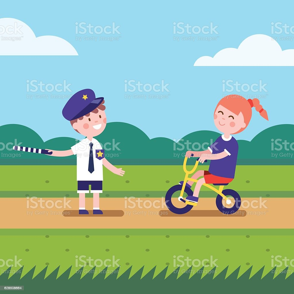 Girl and boy playing games characters vector art illustration
