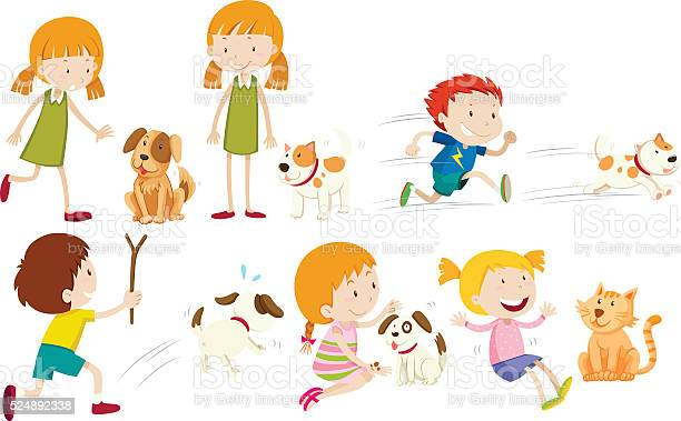 Girl and boy playing with dog vector id524892338?b=1&k=6&m=524892338&s=612x612&h=s4vufqlaccmjrfkzn iz4ewv0zay6qsydk rkvgzwli=