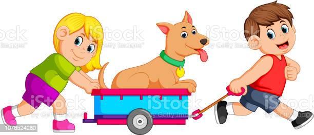 Girl and boy pulling wagon with dog vector id1076524280?b=1&k=6&m=1076524280&s=612x612&h=p6vxm ybtiuq0dcaaoodzlavale2ckk7kkdwabnnrtu=