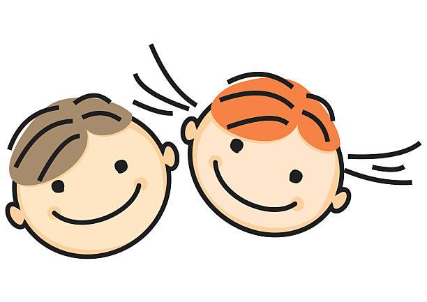 girl y niño  - ilustración de arte vectorial
