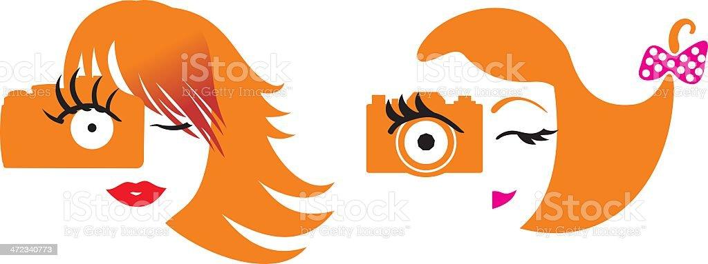 Girl and Camera snapshot royalty-free girl and camera snapshot stock vector art & more images of adult