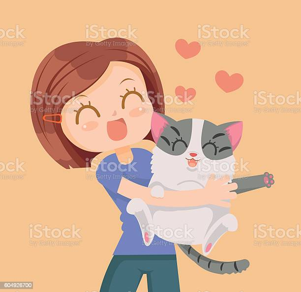 Girl and cat characters hug best friends vector id604926700?b=1&k=6&m=604926700&s=612x612&h=ah5tpex3io9xrx affyohvc0b97jwqg6jxjmiaoeerg=
